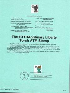 US SP942 Liberty Torch 2531A Souvenir Page FDC