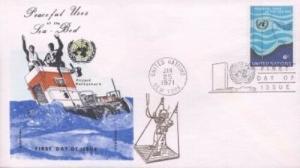 UN #215 PEACEFUL USE OF THE SEA - Overseas Mailer