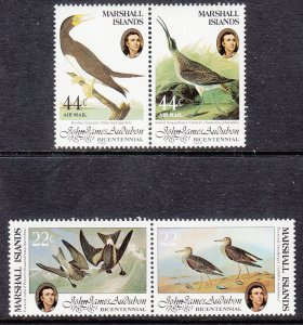 Marshall Islands 63-64,C1-C2 Birds MNH VF