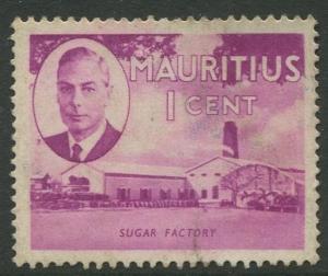 Mauritius - Scott 235 - KGVI Definitive Issue -1950 - FU -Single 1c Stamp