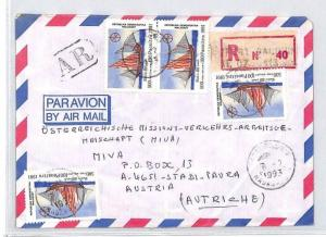 CA46 1991 Madagascar Airmail Cover MISSIONARY VEHICLES PTS