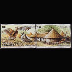 ZAIRE 1984 - Scott# 1137-8 Birds 40z NH