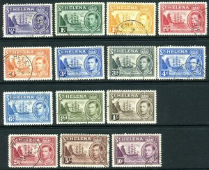 ST HELENA-1938-44  FINE USED set to 10/- Sg 131-140 V427376