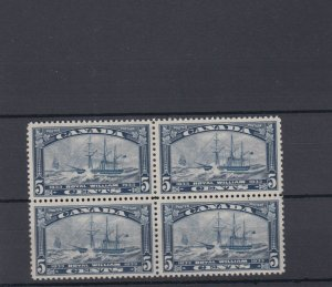 Royal William block of 4 #204 VF MNH Cat $120  Canada mint