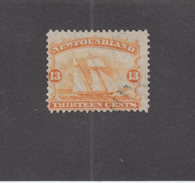 NEWFOUNDLAND # 30 FVF-MNG 13cts SHIP CAT VALUE $150+