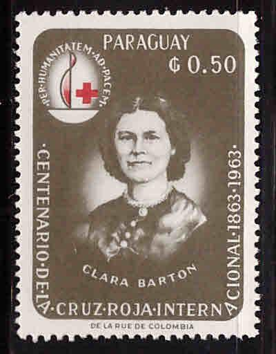 Paraguay Scott 802 MH*  Red Cross stamp