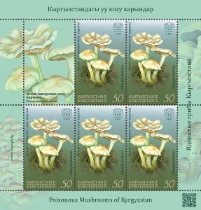 Stamps of Kyrgyzstan 2019. - Minisheet.   121L. Ivory Funnel.