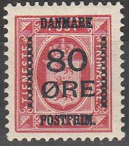 Denmark #137  F-VF Unused CV $32.50 (A16830)