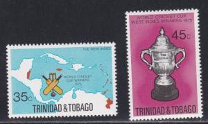 Trinidad & Tobago # 260-261, World Cricket Cup, NH, 1/2 Cat.