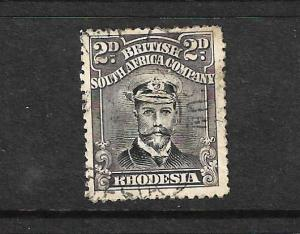 RHODESIA  1913-22  2d   KGV   FU  P14  SG 209