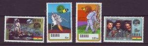 J24438 JLstamps 1970 ghana mnh set #386-9 space