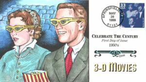#3187o 3-D Movies Collins FDC