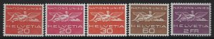 Switzerland 1955 United Nations Official set Sc# 7O21-29 NH