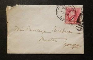US 2c Washington on small envelope 1921, Decatur GA  - w/ Enc :Thank you letter