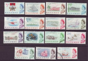 J24112 JLstamps 1965 bahamas set mh/2 used #204-18 views 215,218used couple mhr