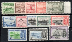 Turks & Caicos KGVI 1950 complete set LHM #221-233 WS14546