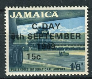 JAMAICA; 1969 early Decimal Currency surcharged issue MINT MNH 15c. value