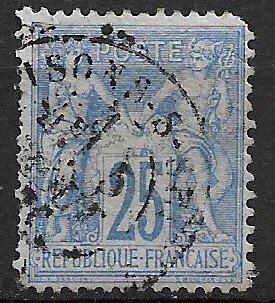 1876 France 71 25c Peace and Commerce used