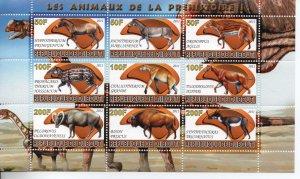 Djibouti X2011 MNH Prehistoric animals