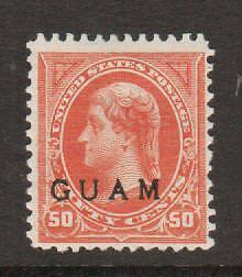 Guam Sc 11 MLH. 1899 50c Jefferson w/ GUAM ovpt