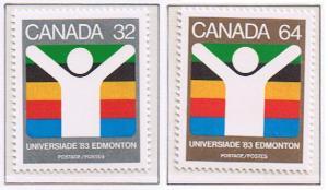 Canada Mint VF-NH #981-982 World University Games