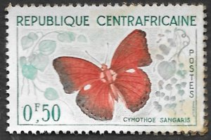 Central African Republic Scott #4 .50fr Butterfly (1964) Used