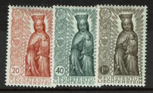 Liechtenstein SC# 284-286, Mint Hinged, Hinge Remnant - S3031