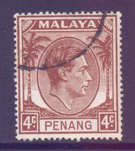 Malaya Penang Scott 6 - SG6, 1949 George VI 4c used
