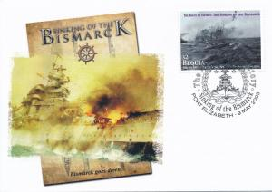 [96851] Bequia 2005 WWII Sinking Bismarck Special Cachet Cover