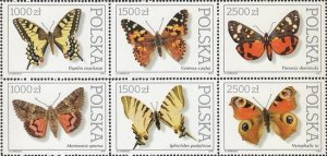 Poland 1991 MNH Stamps Scott 3055a Butterflies