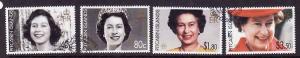 Pitcairn Is.-Sc#638-41-used set-QEII-80th Birthday-Royalty-2
