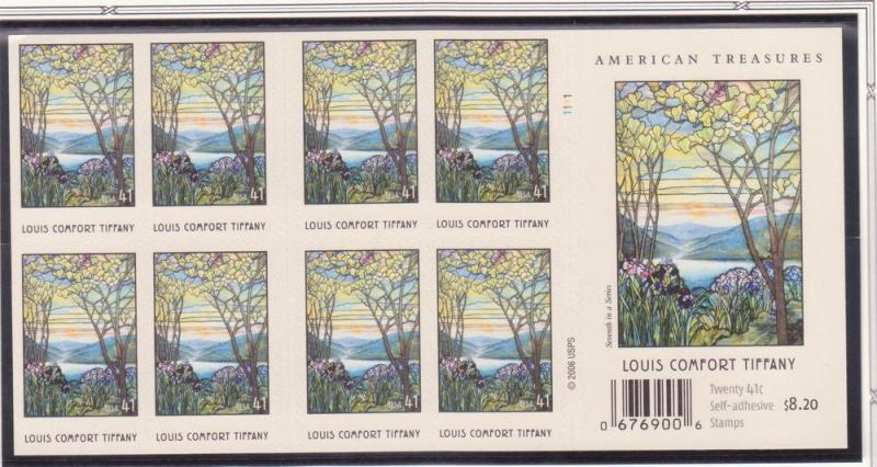 4165 Louis Comfort Tiffany 2007 MNH DS Booklet Sheet 1111