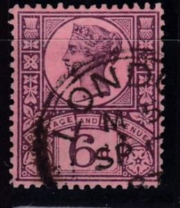 Great Britain 1887 6d violet rose Queen QV Jubilee  VF/Used/(o)