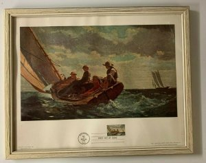 Scott #1207 Winslow Homer Breezing Up FDC Commemorative Nicely Framed