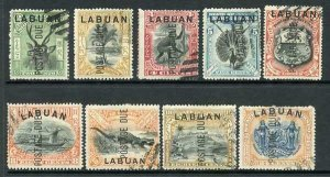 Labuan SGD1/9 set Cancelled to Order Cat 14 pounds
