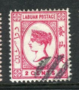 LABUAN; 1892-93 classic early issue fine used 2c. value