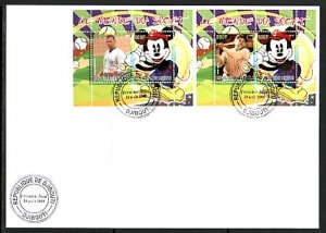 Djibouti, 2008 Cinderella issue. Disney & Baseball, First day cover. ^