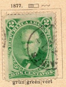 Argentina 1877 Early Issue Fine Used 2c. NW-11790