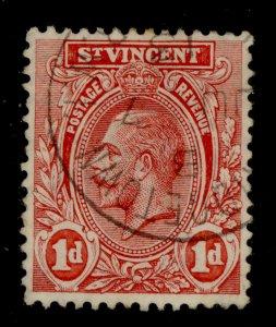 ST. VINCENT GV SG109b, 1d scarlet, FINE USED. CDS