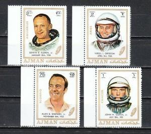 Ajman, Mi cat. 783, 787, 790-791 A. Astronaut values from set.