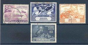 Malaya (Malacca) 1949 UPU set SG18/21 Fine Used