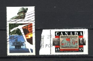 Canada #1721-22    -4   used VF  1998 PD