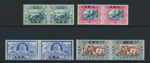 SOUTH WEST AFRICA 1938 VOORTRECKER CENT SET MLH SG#105-8 CAT£110 $146(SEE BELOW)