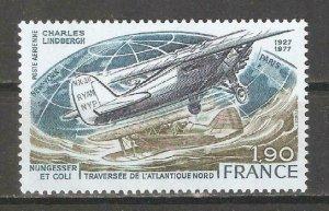 France 1977,Air Mail,C.Lindbergh flight NY to Paris,Scott # C49,VF MNH**OG
