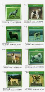 Equatorial Guinea 1977 Various Dogs Sheet (8) Imperforated mnh.vf