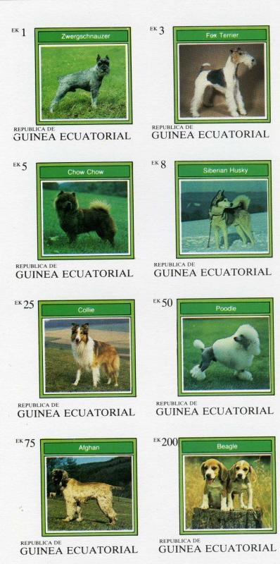 Equatorial Guinea 1977 Various Dogs Sheet (8) Imperf.mnh.vf