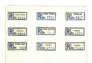 MAURITIUS *Registered Labels* Collection Original Album Page {samwells} AQ381