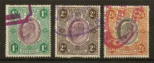 Transvaal 1902 Revenue Stamps (3v)
