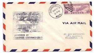 Cassopolis MI Centennial Event Cover 1931 Michigan Airmail