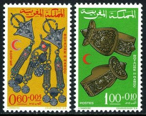 Morocco B12-B13, MNH. Moroccan Red Crescent Society. Jewelry, 1967